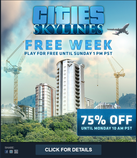cities skylines free on steam this week 360fov