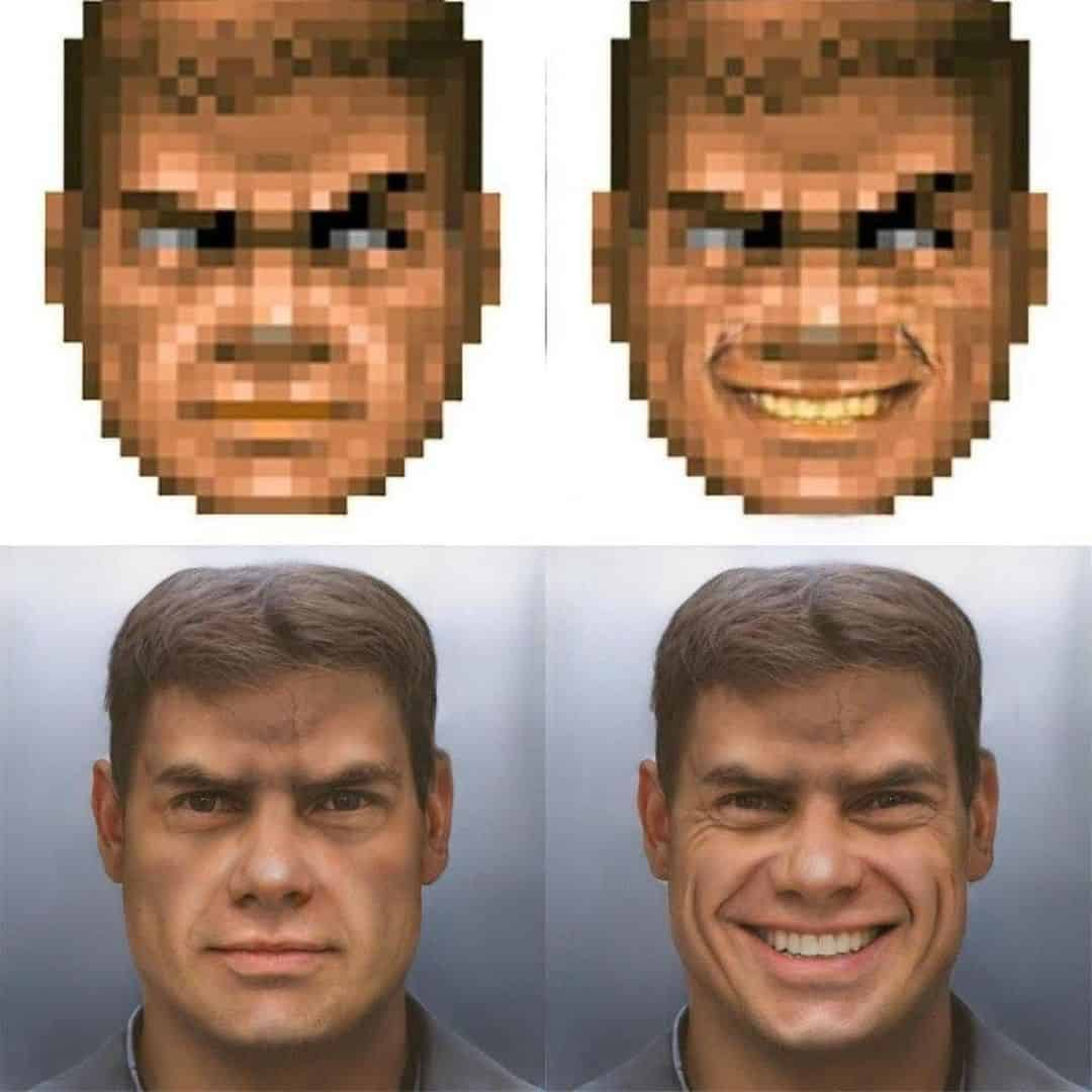The is Doom Guy generated using Neural Networks…I studied that as as a module