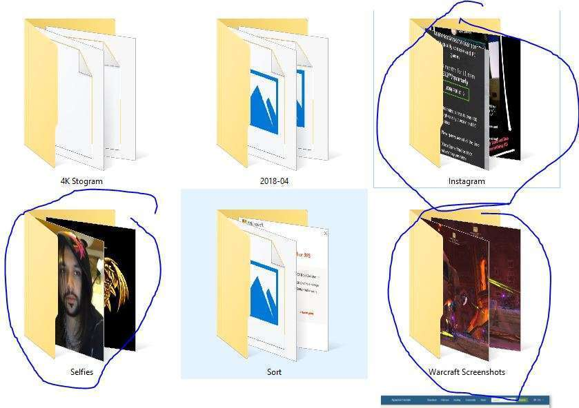 How To: Set Your Folders As Speciality Folders (E.g. Images, Audio Files, Documents) 1 Thumbails For Folders
